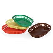Košík na pečivo barevný, 27 x 17,5 x 3,5 cm - zelená - 2/2
