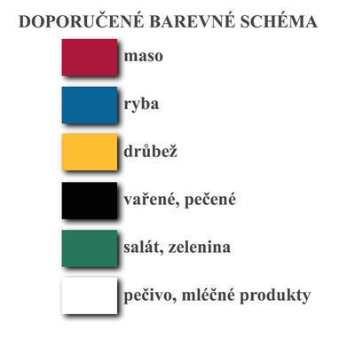 Desky krájecí barevné pro Gourmet Board, žlutá - 53 x 32,5 cm GN 1/1 - 2