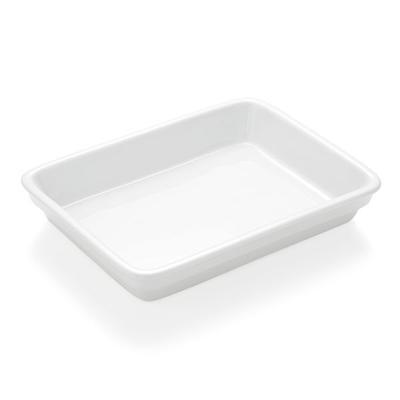 Podnos jídelní porcelánový, silikonové víko - 24 x 18 x 1 cm - 2