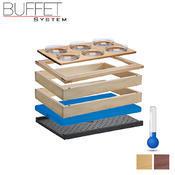 Bufetový modul 1/1 chlazený 6 misek, tmavý buk - 13,0 cm - 2/4