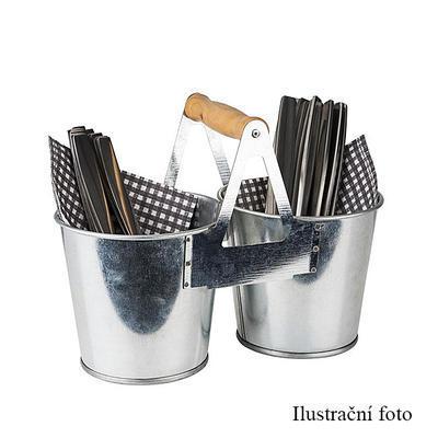 Nádoba na příbory kovová TIN, 23,5 x 12 x 18,5 cm - 2