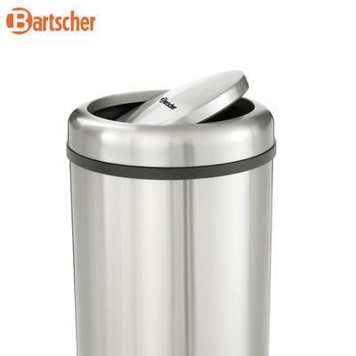 Odpadkový koš s výklopným víkem Bartscher, 350 x 350 x 750 mm - 50 l - 6,3 kg - 2