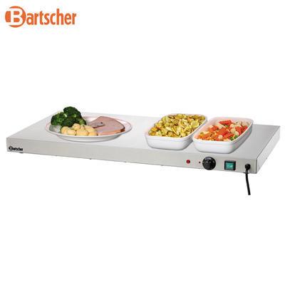 Ohřívací nerezová deska Bartscher, 1000 x 500 x 64 mm - 0,6 kW / 230 V - 16 kg - 2