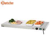 Ohřívací nerezová deska Bartscher, 1000 x 500 x 64 mm - 0,6 kW / 230 V - 16 kg - 2/3