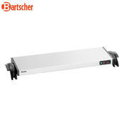 Ohřívací nerezová deska WP1200 Bartscher, 730 x 215 x 62 mm - 1,2 kW / 220-240 V - 4,0 kg - 2/3