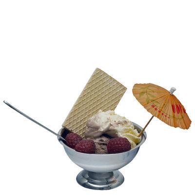 Pohár na zmrzlinu nerezový nízký, 9 cm - 6 cm - 2