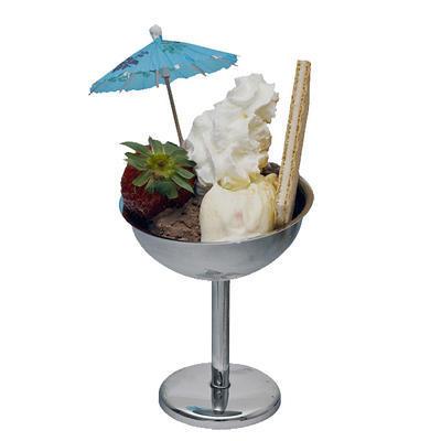 Pohár na zmrzlinu nerezový vysoký, 9 cm - 11 cm - 2