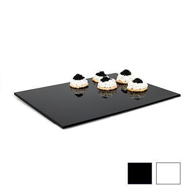 Plato melamin Zero GN bílé a černé, GN 1/4 - 32,5 x 17,6 x 1,5 cm - černá - 2
