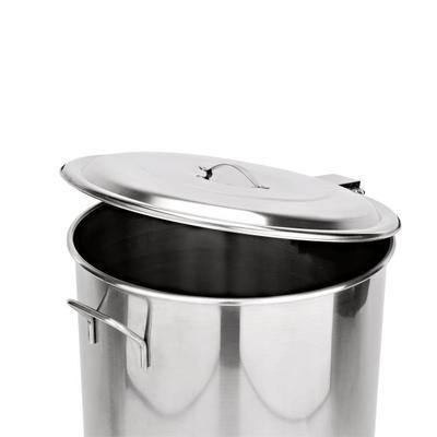 Odpadní nádoba s pedálem na kolečkách, 65 l - PR 40 / V 63 cm - 2