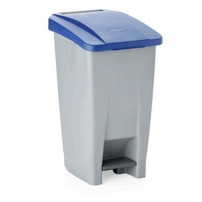 Odpadkový koš 60, 80 a 120 l s víkem, 60 l - 38 x 49 x 70 cm - modré víko - 2