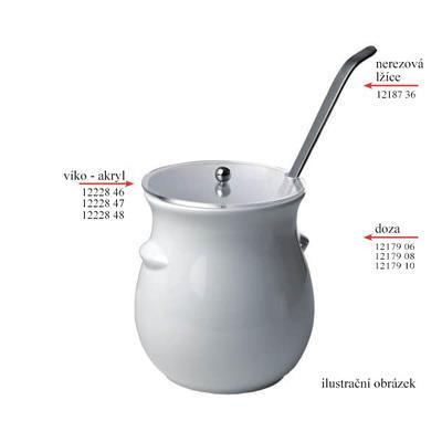 Nádoba na dresink porcelán, dóza bez víka 2 l - 2 l - 13,5 x 22,0 cm - 2