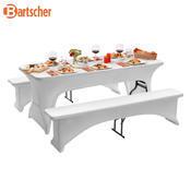 Potah na pivní set 1830 bílý Bartscher, na 1 stul a 2 lavice - 1850 x 290 x 440 mm - 2/3