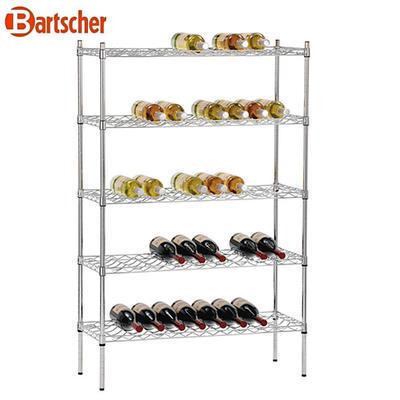 Regál na víno Bartscher, 915 x 355 x 1370 mm - 100-130 ks lahví - 12,5 kg - 2