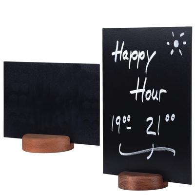 Stojánek kulatý dřevěný na tabulky, stojánek tmavý - 7 cm - 5 ks - 2