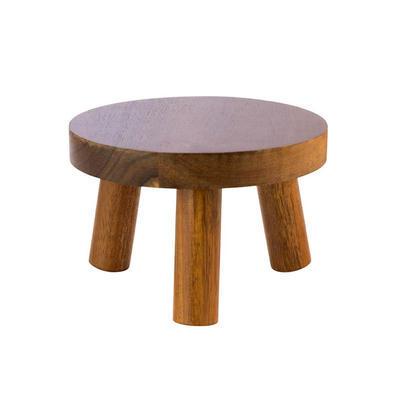 Stojan bufetový stolička dřevěná, 15 cm - 10 cm - 2