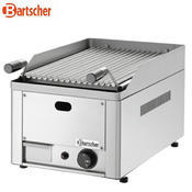 Gril stolní lávový plynový Bartscher, 330 x 545 x 285 mm - 4 kW / plyn - 21,4 kg - 2/3