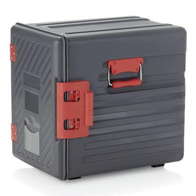 Přepravní termobox GN 12 vsuvů ABS, dvířka s panty - 64 x 44 x 61 cm - 54 x 40,5 x 50 cm - 2