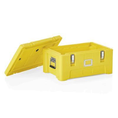Transportní termobox GN 1/1 žlutý, GN 1/1 - 63 x 43 x 31 cm - 51,5 x 30,5 x 23 cm - 2