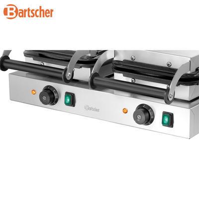 Vaflovač dvojitý tvaru srdce Bartscher, 600 x 470 x 220 mm - 4,4 kW / 2 x 230 V - 31,1 kg - 2