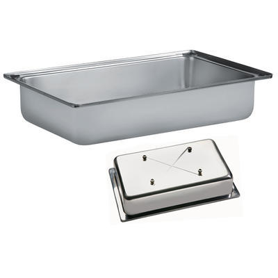 Bufetový modul pro teplé pokrmy nerez, teplý modul nerez - 20 cm - 57 x 36 cm - 2