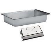 Bufetový modul pro teplé pokrmy nerez, teplý modul nerez - 20 cm - 57 x 36 cm - 2/4