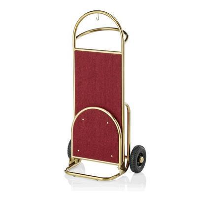 Recepční vozík Suite, zlatá - bordó - 61 x 70,5 x 121 cm - 2