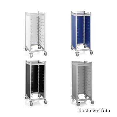 Opláštění a zábradlí pro vozíky Cucina, zadní stěna - modrá - 2