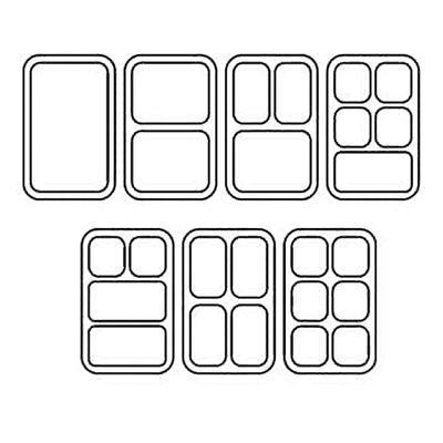 Termoport Melform AP 100, modrá - 410 x 610 x 200 mm - 310 x 510 x 110 mm - 3