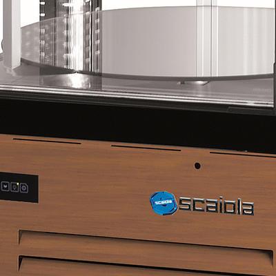 Chladicí vitrína Scaiola 400G Barocco, 400 l - 750 x 750 x 1860 mm - 230 V - 3