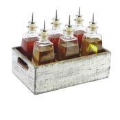 Box dřevěný s přihrádkami Vintage, 17 x 17 x 10 cm - 4 - 3/6