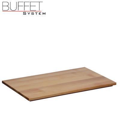 Bufetový modul nerez s deskou uni, nerez - světlý/uni deska - 6,5 cm - 3