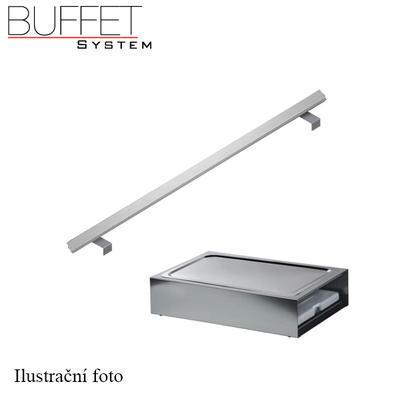 Bufetový modul ICE nerez s 2x GN1/2-40 a rolltop akryl, nerez ICE - 2GN/poklop - 13 cm - 3