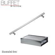 Bufetový modul ICE nerez s 2x GN1/2-40 a rolltop akryl, nerez ICE - 2GN/poklop - 13 cm - 3/5