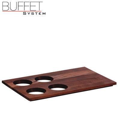 Bufetový modul nerez - 4 karafy, nerez - tmavý/4karafy - 6,5 cm - 3