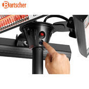 Terasový ohřívač se 3 výklopnými zářiči Bartscher, 600 x 600 x 2120 mm - 3 x 1 kW - 19,7 kg - 3/5
