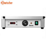 Gril kontaktní Panini 1RDIG Bartscher, 410 x 400 x 200 mm - 2,2 kW / 230 V - 18 kg - 3/4