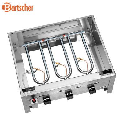 Gril stolní plynový 10 kW s pánví Bartscher, 705 x 560 x 275 mm - 10 kW - 13,9 kg - 3