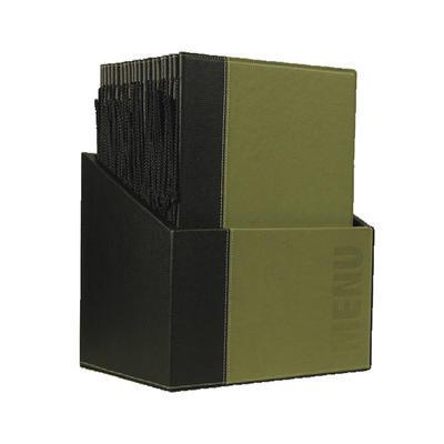 Box s jídelními lístky Trendy, zelená - 20 JL + box - A4 - 3