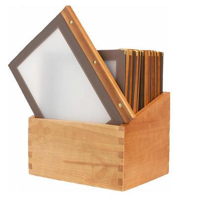 Box s jídelními lístky Wood hnědý, hnědá - 20 JL + box - A4 - 3