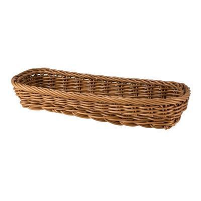 Košík na příbory oválný, hnědý - 27 x 11 x 4,5 cm - 3