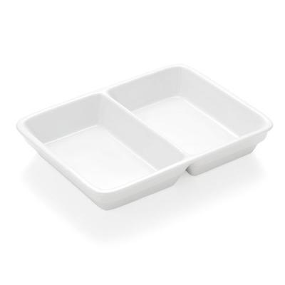 Podnos jídelní porcelánový, 3 dílný - 23,5 x 17,5 x 4,5 cm - 3