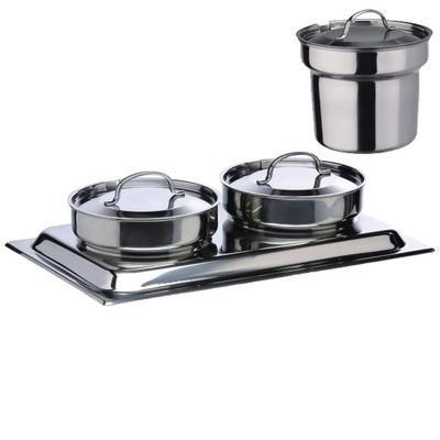 Chafing dish na polévku 2 x 4 l Bartscher, objem 2 x 4 l - 636 x 357 x 460 mm - 2,2 kW / 230 V - 3
