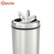 Odpadkový koš s výklopným víkem Bartscher, 350 x 350 x 750 mm - 50 l - 6,3 kg - 3/4