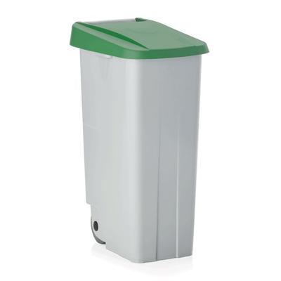 Odpadkový koš 85 a 110 l s víkem, 85 l - 40 x 57 x 76 cm - žluté víko - 3