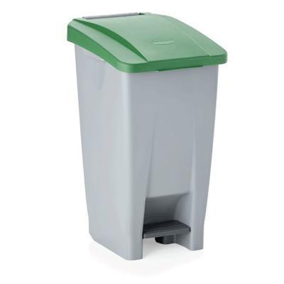 Odpadkový koš 60, 80 a 120 l s víkem, 60 l - 38 x 49 x 70 cm - modré víko - 3