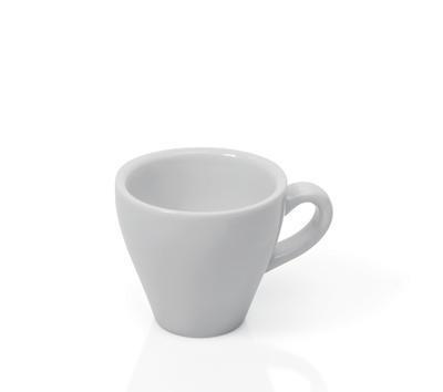 Šálek a podšálek na espresso Italia, šálek bílý - 6 x 6,5 cm - 0,09 l - 3