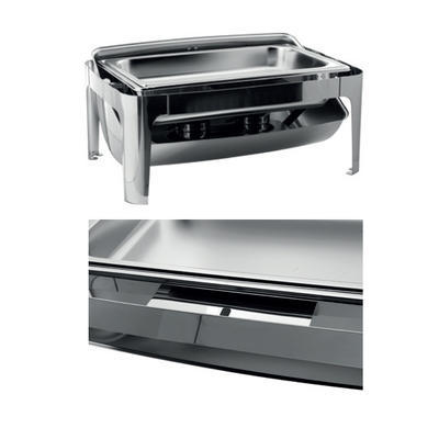 Chafing dish GN 1/1-65 mm s rolltopem kombi, GN 1/1-65 mm - 500W topení - 67 x 41 x 44 cm - 3