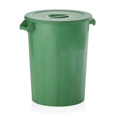 Skladovací nádoba HACCP 100 litrů, zelená s víkem - 51,5 x 67 cm - 3
