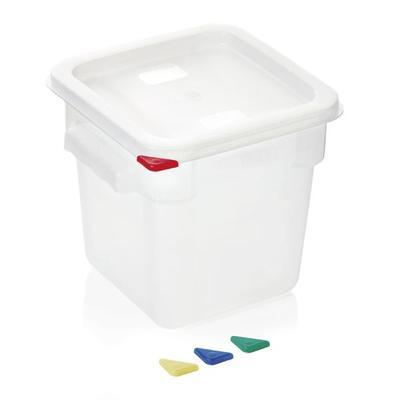 Skladovací box HACCP polypropylen, 8 l - 22,5 x 22,5 x 23 cm - 3