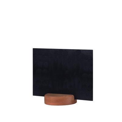 Stojánek kulatý dřevěný na tabulky, stojánek tmavý - 7 cm - 5 ks - 3